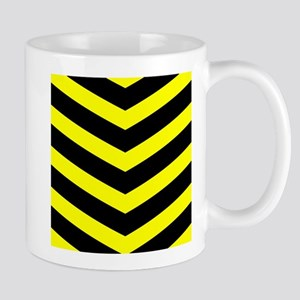 Black/Yellow Chevron Mug