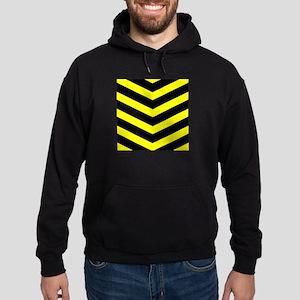Black/Yellow Chevron Hoodie (dark)
