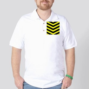 Black/Yellow Chevron Golf Shirt
