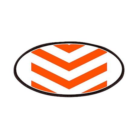 Orange/White Chevrons Patches
