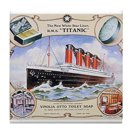 Titanic First Class Soap Tile Coaster
