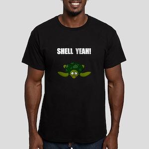 Shell Yeah Men's Fitted T-Shirt (dark)