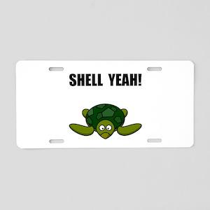 Shell Yeah Aluminum License Plate
