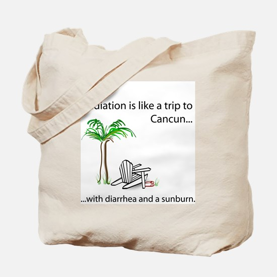 Radiation and Cancun Tote Bag