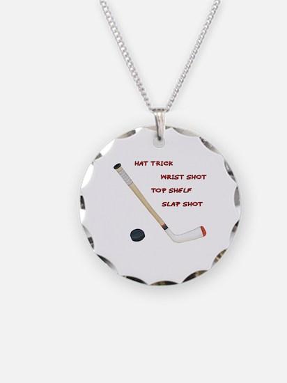 Hockey Necklace Circle Charm
