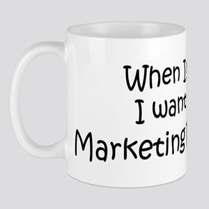 Grow Up Marketing Researcher Mug