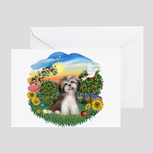 BrightCountry-ShihTzu #2 Greeting Card