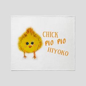Chick says Pio Pio Throw Blanket