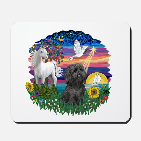 MagicalNight-BlkShihTzu Mousepad