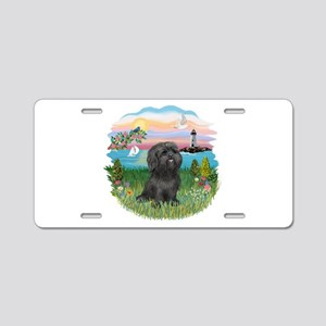 LightHouse-BlackShihTzu Aluminum License Plate