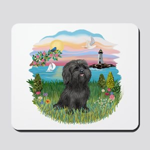 LightHouse-BlackShihTzu Mousepad