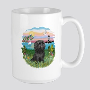 LightHouse-BlackShihTzu Large Mug