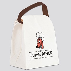 Doggie Diner restaurant logo Canvas Lunch Bag