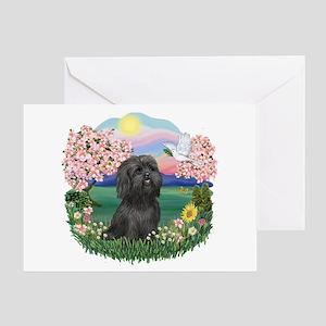 Blossoms-ShihTzu#21 Greeting Card