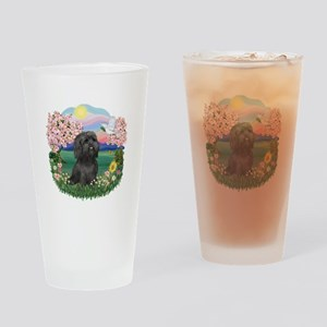 Blossoms-ShihTzu#21 Drinking Glass