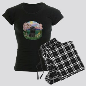 Blossoms-ShihTzu#21 Women's Dark Pajamas