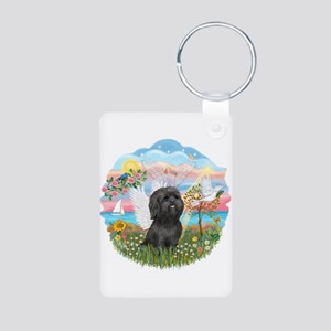 AngelStar/Shih Tzu (blk) Aluminum Photo Keychain