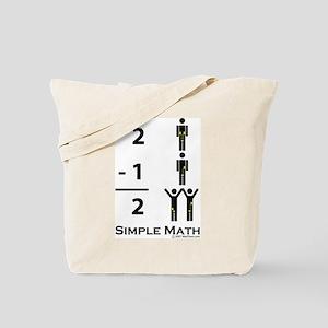 Simple Math Tote Bag