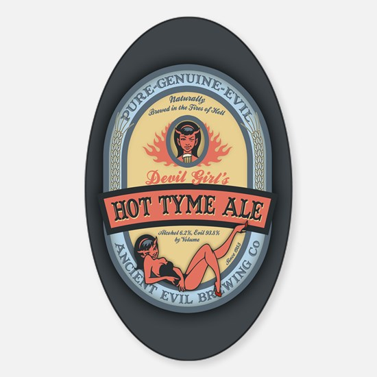 Hot Tyme Ale Sticker (Oval)