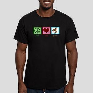 Peace Love Horses Men's Fitted T-Shirt (dark)