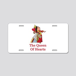 The Queen of Hearts Aluminum License Plate