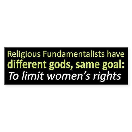 Different Gods, Same Goal Bumpersticker