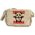 Zombie Panda Messenger Bag