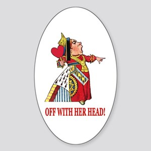 The Queen of Hearts Sticker (Oval)