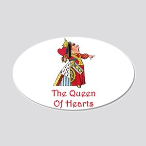 The Queen of Hearts 22x14 Oval Wall Peel