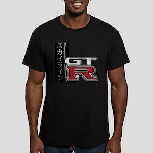 Skyline GT-R Katakana Men's Fitted T-Shirt (dark)