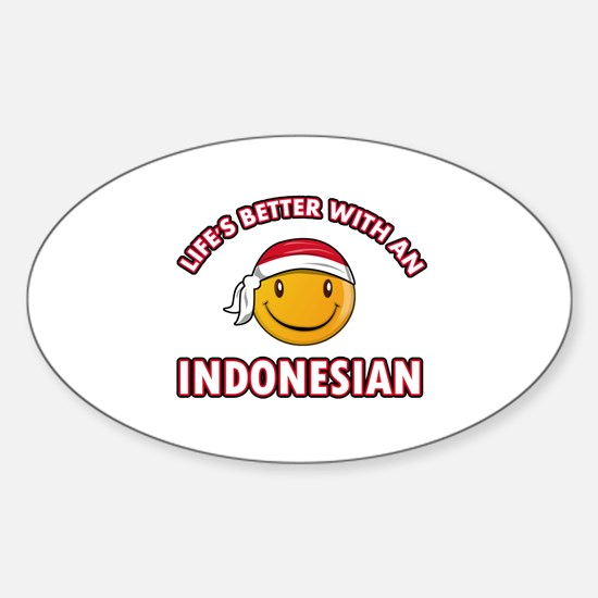 Cute Indonesian designs Sticker (Oval)