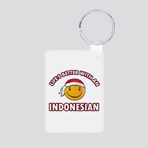 Cute Indonesian designs Aluminum Photo Keychain