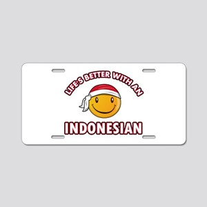 Cute Indonesian designs Aluminum License Plate
