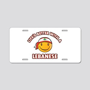 Cute Lebanese designs Aluminum License Plate