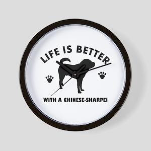 Chinese Sharpie Breed Design Wall Clock