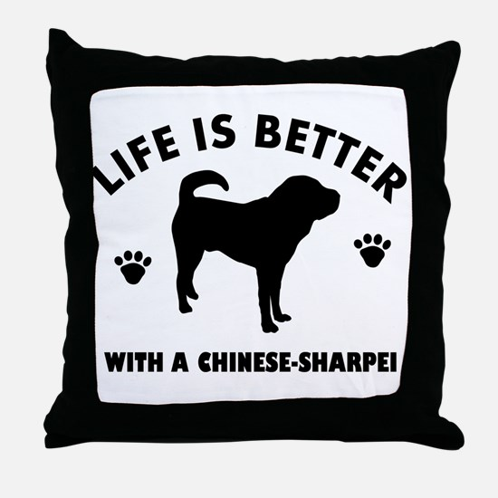 Chinese Sharpie Breed Design Throw Pillow