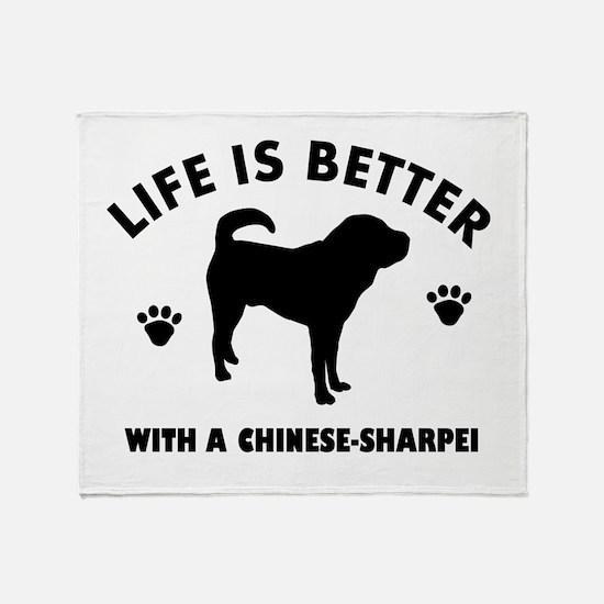 Chinese Sharpie Breed Design Throw Blanket