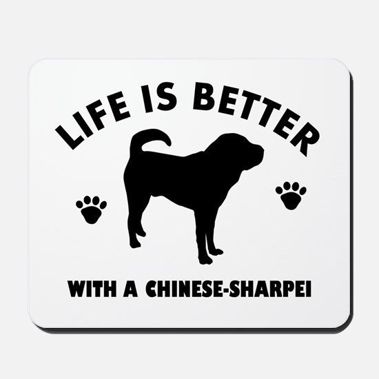 Chinese Sharpie Breed Design Mousepad