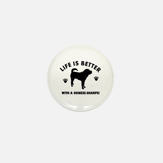 Chinese Sharpie Breed Design Mini Button