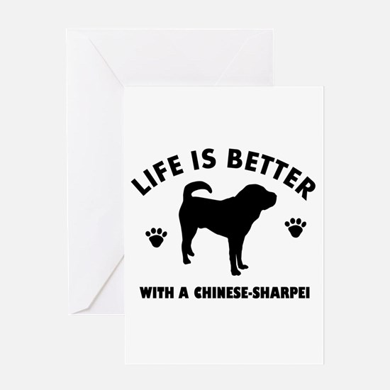 Chinese Sharpie Breed Design Greeting Card