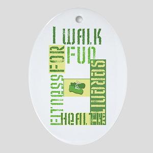 I Walk for Fun... Ornament (Oval)