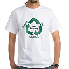 Just Recycling White T-Shirt