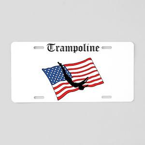 Trampoline gymnast Aluminum License Plate