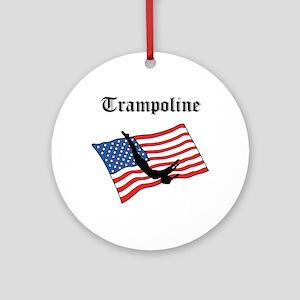 Trampoline gymnast Ornament (Round)