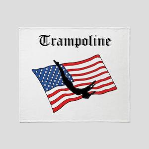 Trampoline gymnast Throw Blanket