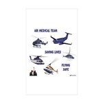 Air Medical Team Sticker (Rectangle 50 pk)