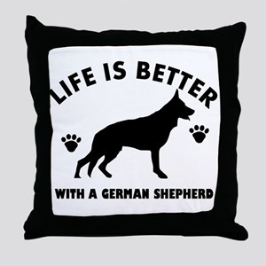German shepherd breed Design Throw Pillow