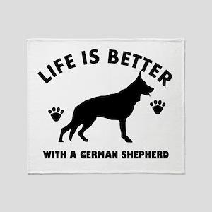 German shepherd breed Design Throw Blanket