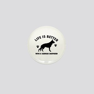 German shepherd breed Design Mini Button