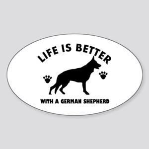 German shepherd breed Design Sticker (Oval)